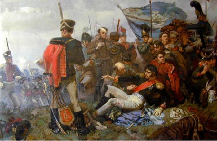 Ранение Багратиона в Бородинском сражении (картина А. И. Вепхвадзе)./Фото: milmed.spb.ru